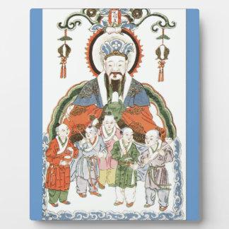 Placa china de dios de la cocina de Zao junio