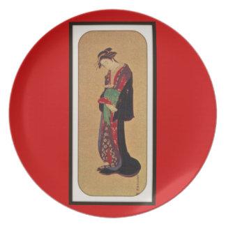 Placa china del diseño del arte plato de cena