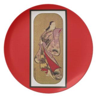 Placa china del diseño del arte platos