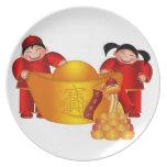 Placa china feliz del Año Nuevo Plato Para Fiesta