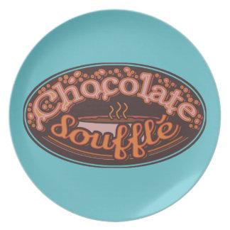 "Placa ""chocolate Soufflé "" del error tipográfico Platos De Comidas"