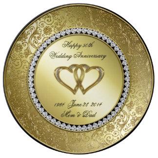 Placa clásica de la porcelana del aniversario de platos de cerámica