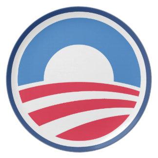 Placa clásica del logotipo de Obama Platos De Comidas