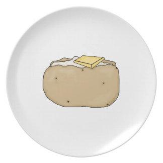 ¡Placa cocida de la patata! Platos De Comidas