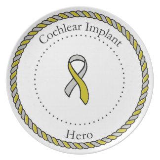 Placa coclear del héroe del implante plato de cena