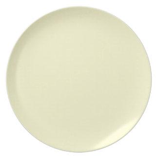 Placa color nata platos