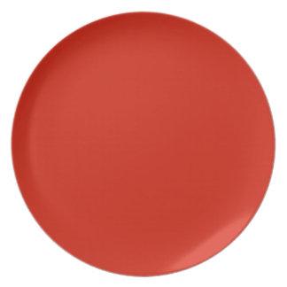 Placa coloreada del pájaro cardinal platos para fiestas
