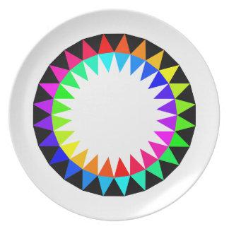 Placa colorida de la comida campestre platos