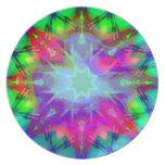 Placa colorida de la estrella platos