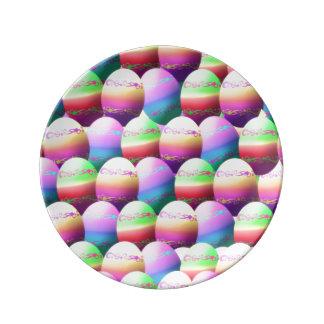Placa colorida de los huevos de Pascua Platos De Cerámica