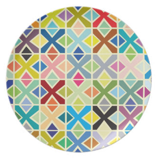 Placa colorida de X Plato De Cena
