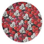 Placa colorida del arte popular del ajo de los tom plato