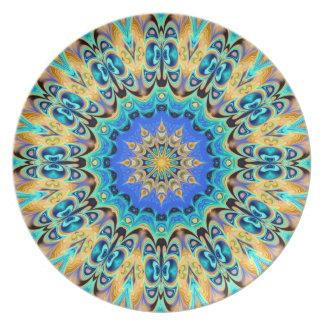 Placa colorida del caleidoscopio plato para fiesta