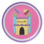 Placa colorida del personalizado del castillo del  plato para fiesta