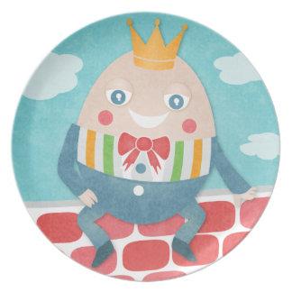 Placa colorida del recuerdo de la fiesta de bienve platos