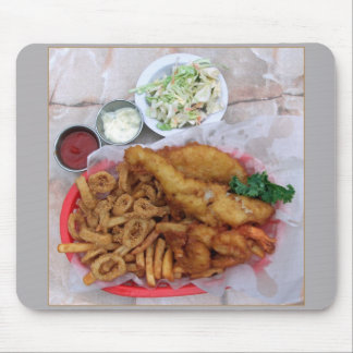 Placa combinada de los pescados, del Calamari y de Alfombrilla De Raton