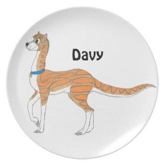 Placa con Davy Platos De Comidas