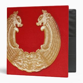 """Placa con dos dragones y una máscara del TAO-lazo Carpeta 1 1/2"""""""