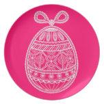 Placa con el huevo de Pascua feliz Platos De Comidas