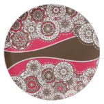 Placa con el ornamento popular platos de comidas