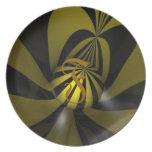 Placa con monograma platos