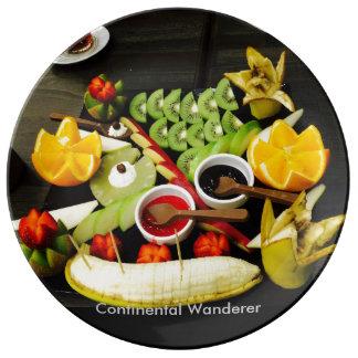 Placa con sabor a fruta plato de cerámica
