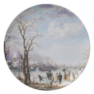 Placa congelada del río plato