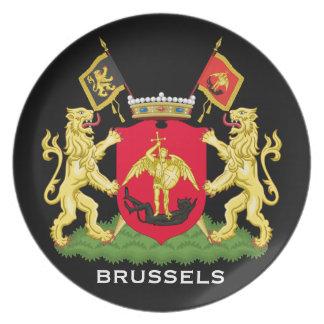 Placa conmemorativa de Bruselas Bélgica Plato Para Fiesta
