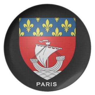 Placa conmemorativa de Paris* Platos De Comidas