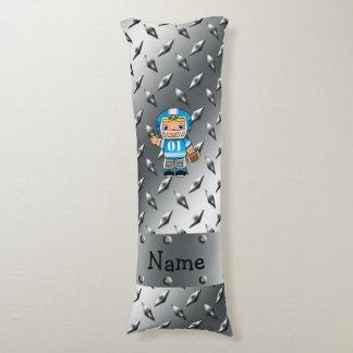 Placa conocida de encargo del diamante de la plata almohada de cuerpo entero