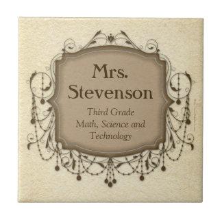 Placa conocida personalizada de la muestra de la s tejas  ceramicas