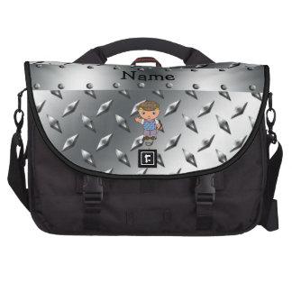 Placa conocida personalizada del diamante de la pl bolsas de portatil