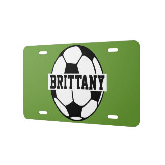 Placa conocida personalizada del fútbol placa de matrícula