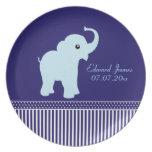 Placa conocida personalizada linda del elefante de plato para fiesta