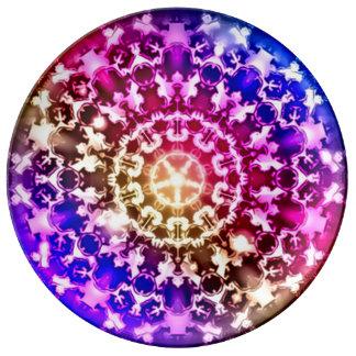 Placa curativa espiritual de siete Chakras Plato De Cerámica