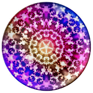 Placa curativa espiritual de siete Chakras Platos De Cerámica