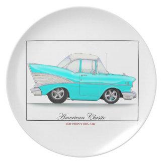 Placa de 57 Chevy Plato