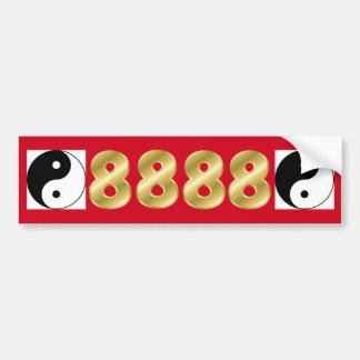 Placa de 8888 dineros para siempre pegatina para auto
