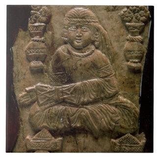 Placa de Abbasid, Iraq o Irán, siglo XII (marfil) Azulejos