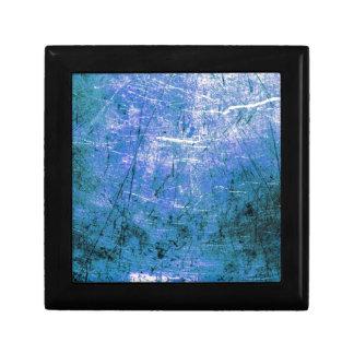 Placa de acero azul cajas de joyas