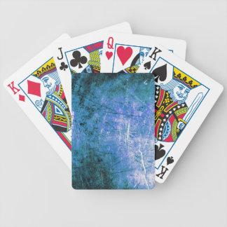 Placa de acero azul barajas de cartas