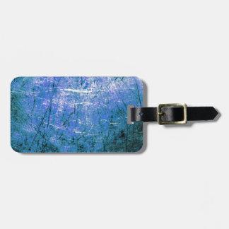 Placa de acero azul etiqueta de maleta