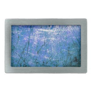 Placa de acero azul hebillas cinturón rectangulares
