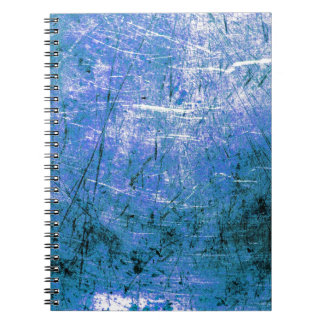 Placa de acero azul libros de apuntes