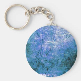 Placa de acero azul llavero personalizado