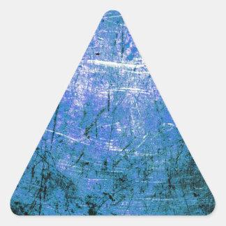 Placa de acero azul calcomanías trianguladas