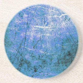 Placa de acero azul posavasos personalizados
