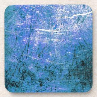 Placa de acero azul posavasos de bebidas