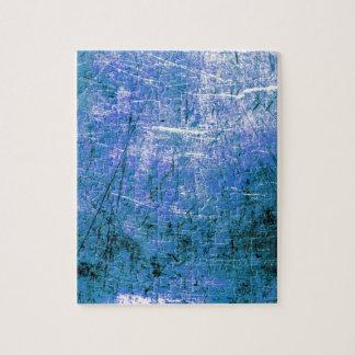 Placa de acero azul rompecabeza con fotos