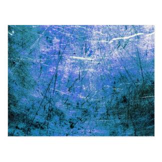 Placa de acero azul postal
